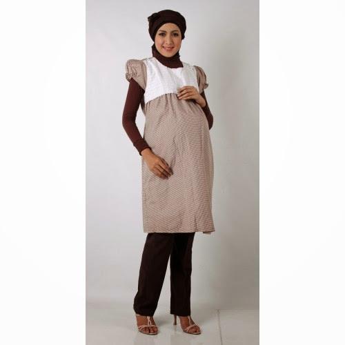 Contoh Model Baju Hamil Muslim 2017