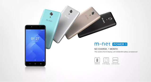 M-net Power 1 3G Smartphone - BLACK