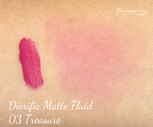 Swatch of Dior Treasure Diorific Matte Fluid Lip & Cheek Velvet Colour