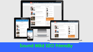 blogger template mild seo sound
