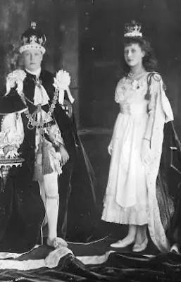 David et Mary de Grande-Bretagne et d'Irlande jour couronnement George V