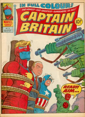 Marvel UK, Captain Britain #23, Jim Callaghan and Captain America
