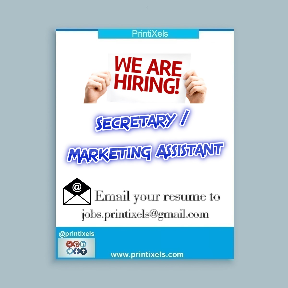 We Are Hiring: Secretary / Marketing Assistant