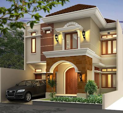model rumah minimalis terbaru 2 lantai gaya mediterania