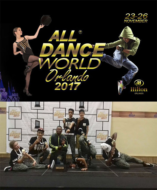 "The4boyz de Sete Barras representara o Brasil no  ""ALL DANCE WORLD ORLANDO 2017"""