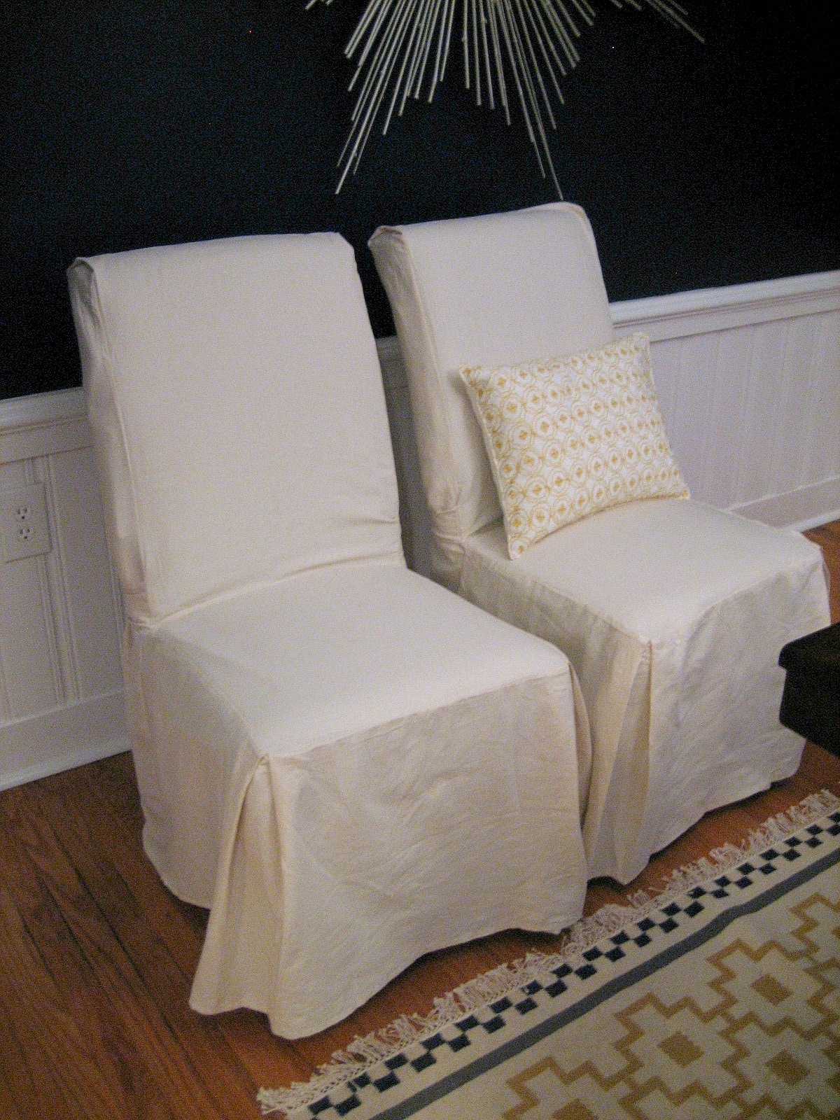 white slip covers for dining room chairs leather library chair ten june update