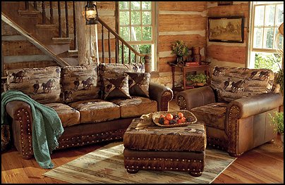 Decorating theme bedrooms maries manor cowboy theme bedrooms rustic western style for Lodge style living room furniture