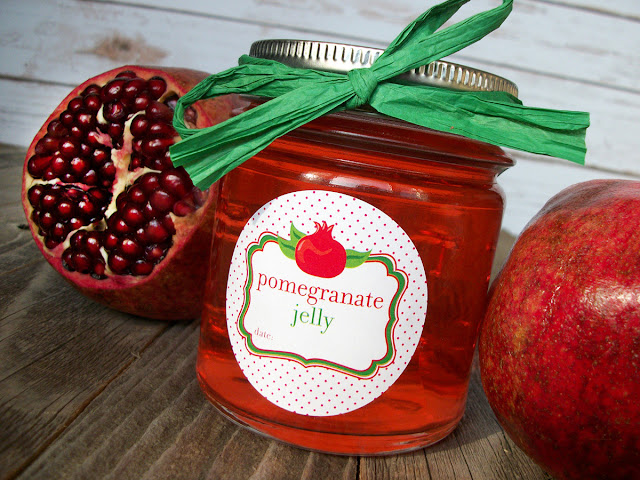 Pomegranate Jelly Canning Jar Labels