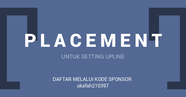 Cara Placement Member Baru Joybiz