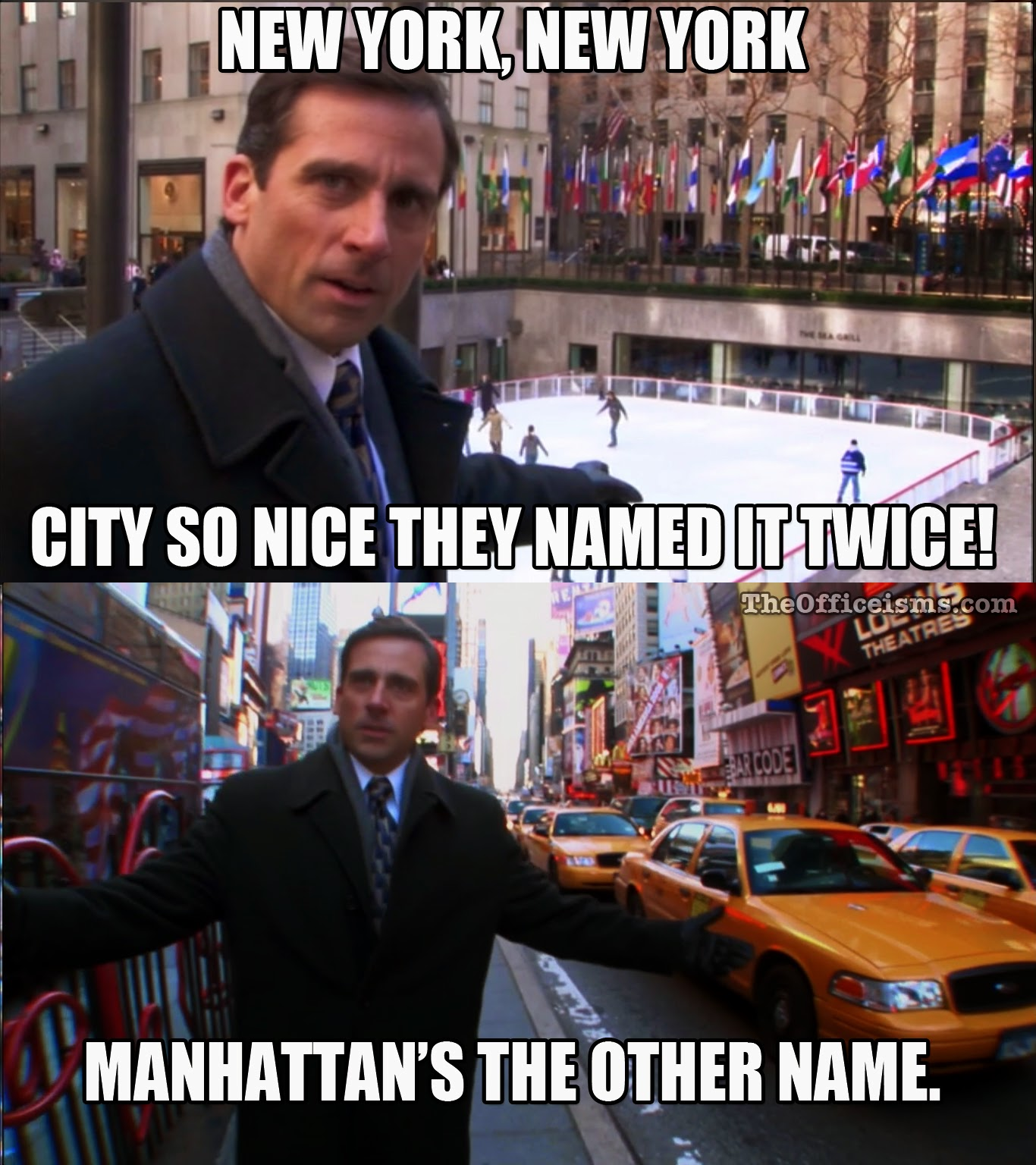 michael scott quote the office meme new york manhattan - The Office Christmas Quotes
