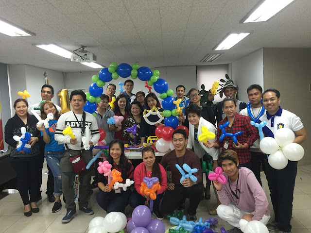 Free Training for Filipino Migrants in Korea on Balloon Twisting and Decoration