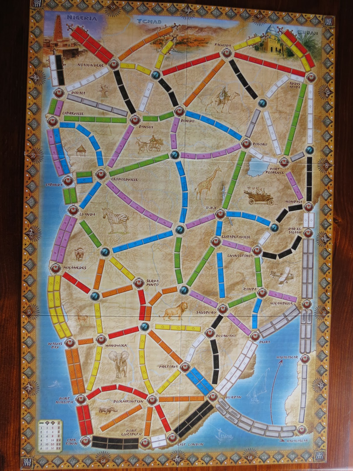 Ticket To Ride Africa Map | Map Of Africa