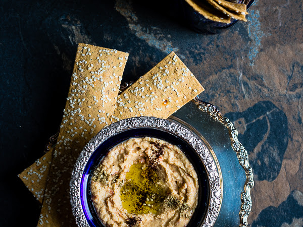 Hummus with Pomegranate Molasses Recipe