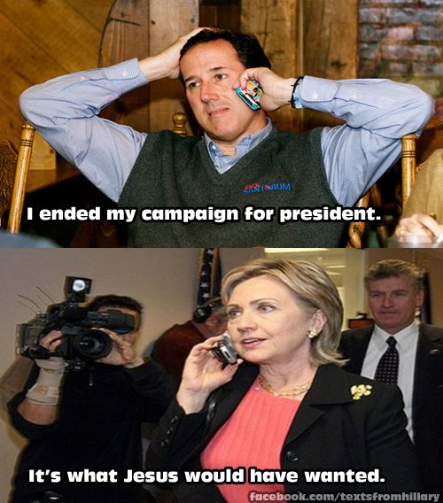 2 political junkies texts from hillary goes out on top
