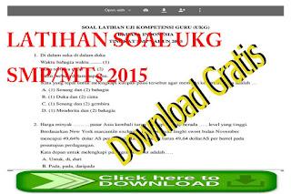 Latihan Soal-soal UKG untuk SMP/MTs 2015