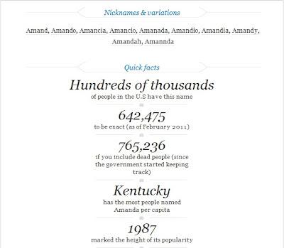history of Amanda