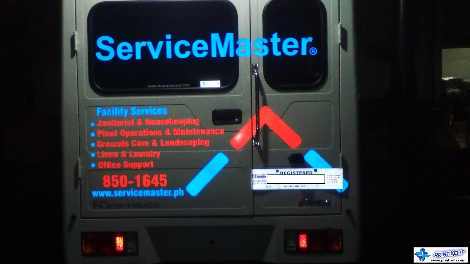 Truck Reflective Stickers - Service Master