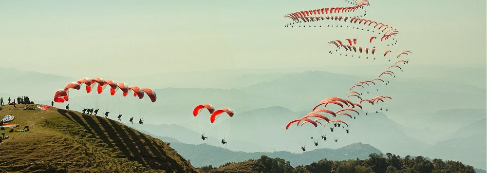 Paragliding in Bir Billing, Himachal Pradesh