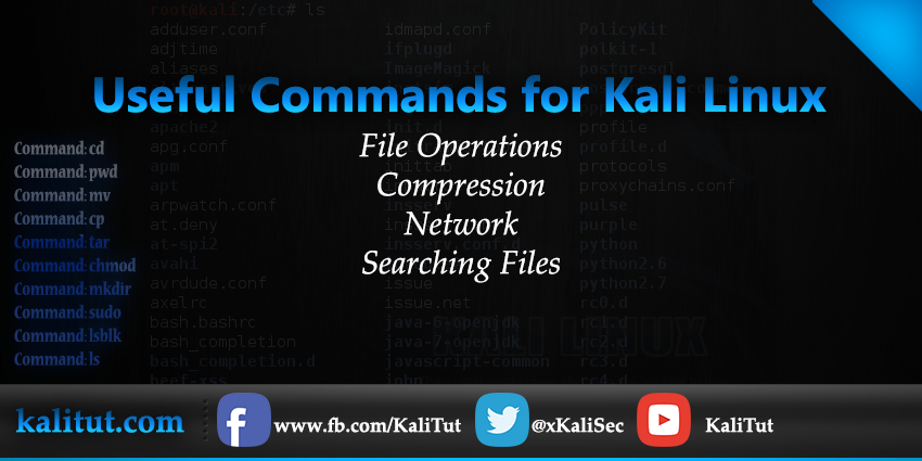 Useful Commands for Kali Linux - KaliTut