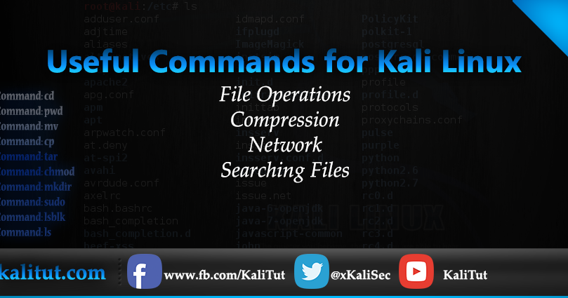 Useful Commands for Kali Linux