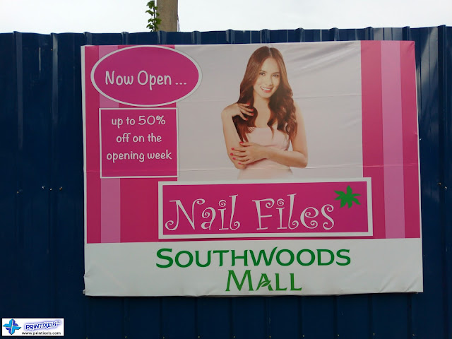 Outdoor Tarpaulin Banner - Nail Files, Southwoods Mall