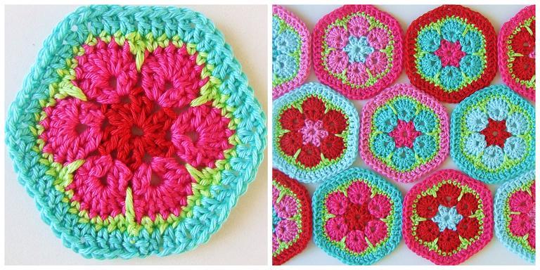 Haakkamer7 Patroon Vrolijke Hexagons