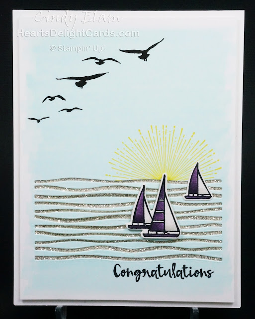 Heart's Delight Cards, Lilypad Lake, Congratulations, 2018-2019 Annual Catalog, Stampin' Up!