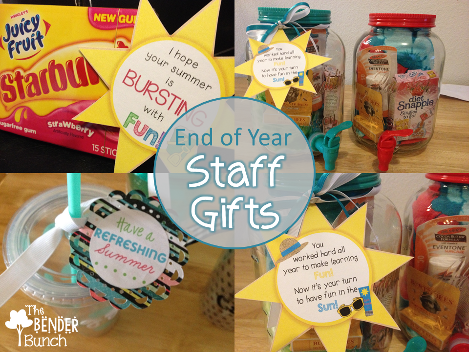 The Bender Bunch: End of Year Gifts for Paras