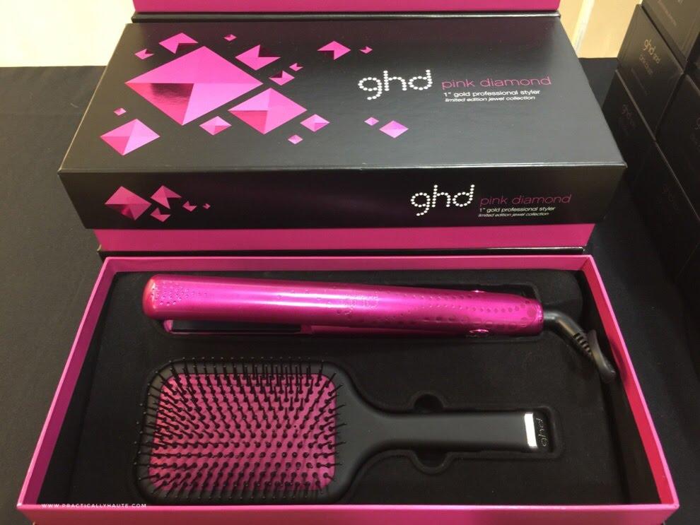 ghd sample sale paddle hair brush flat iron set