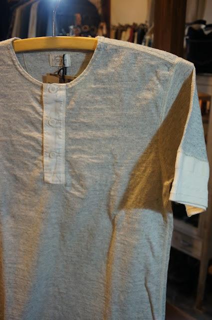 LOOP&WEFT LRH1014 リバイバル杢天竺ヘンリーネックTシャツ