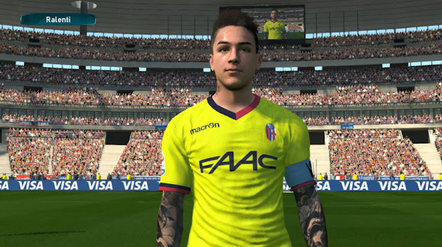 Erick Pulgar Face with Tattoo PES 2017