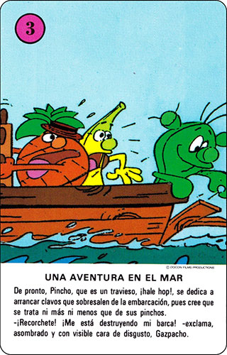 Baraja Los Fruittis Carta rosa 3