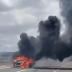Viatura pega fogo com dois policiais e dois internos do Copemcan