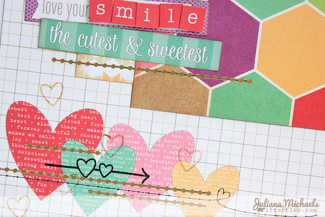 Adorable You Layout by Juliana Michaels detail