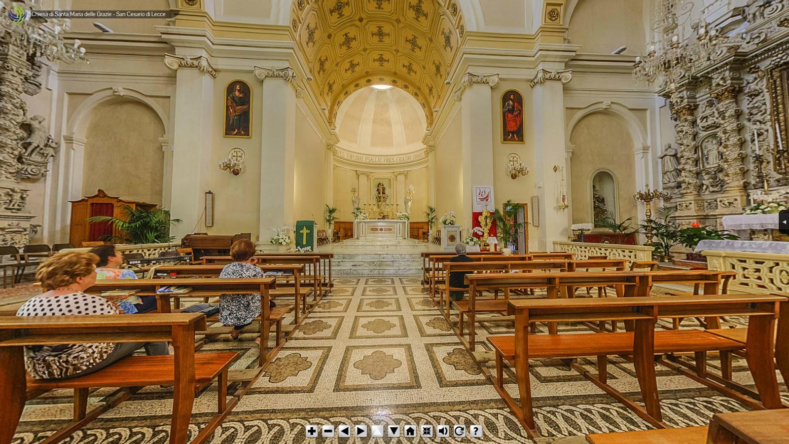 Altare maggiore della chiesa santa maria delle grazie a for Albanese arredamenti san cesario lecce