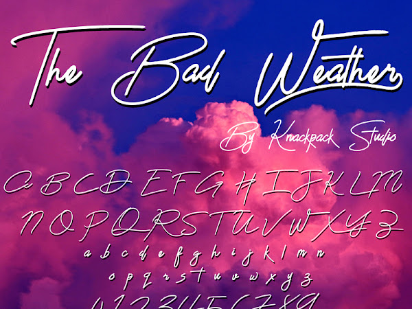 The Bad Weather Signature Font Free Download