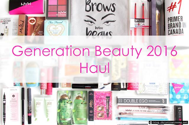 Generation Beauty GenBeauty 2016 Toronto Haul