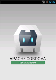 cordova app default screen