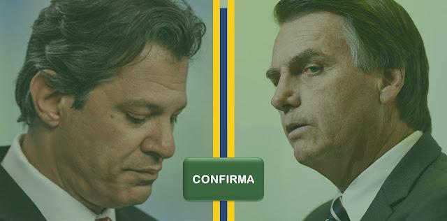 Haddad ou Bolsonaro - botão confirma