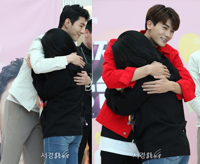 《大力女子都奉順》履行收視公約 朴炯植 Jisoo 進行Free Hug