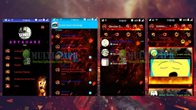 Update Aplikasi BBM Mod Droid Chat Legend of Fire v3.0.0.18 Apk Android Terbaru