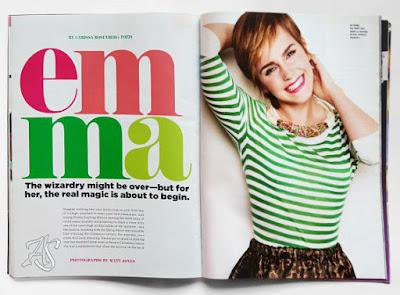Emma Watson Seventeen August 2011 Sierpień USA