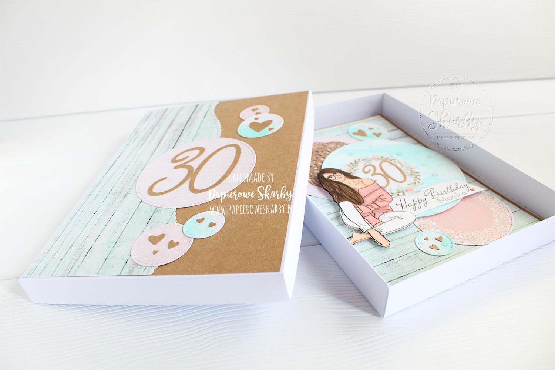 scrapbooking cardmaking handmade rękodzieło kartki ręcznie robione kartka w pudełku na 30 urodziny papierowe skarby na 18-nastkę 18 z życzeniami dla kobiety dziewczyny kobieta dziewczyna wyjątkowa kartka urodzinowa kartki urodzinowe hand made