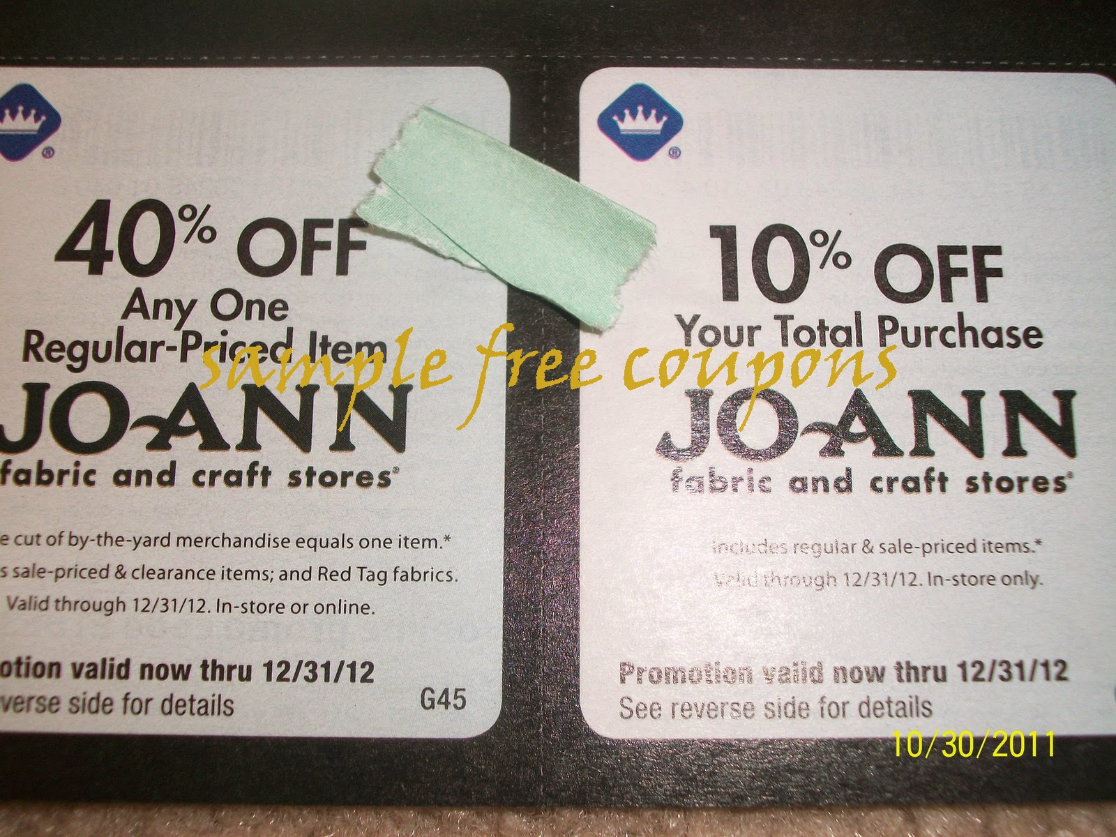 Joann fabrics coupon july 2019