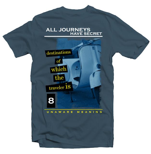 vespa traveler tshirt design dtg design