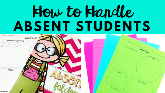 This is a great blog post that walks you through an easy way to keep track of and organize absent student work in your classroom! Perfect for upper elementary, middle school, and high school!