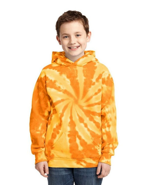 Port & Company PC146Y Youth Pullover Hooded Sweatshirt - Rainbow - L
