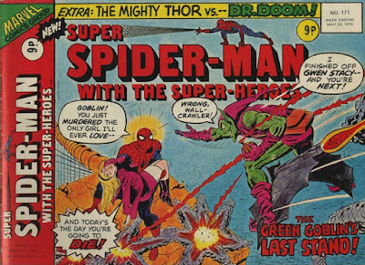 Super Spider-Man with the Super-Heroes #171, Death of Gwen Stacy/Green Goblin