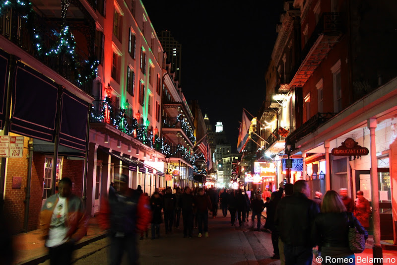 Bourbon Street at Christmas New Orleans