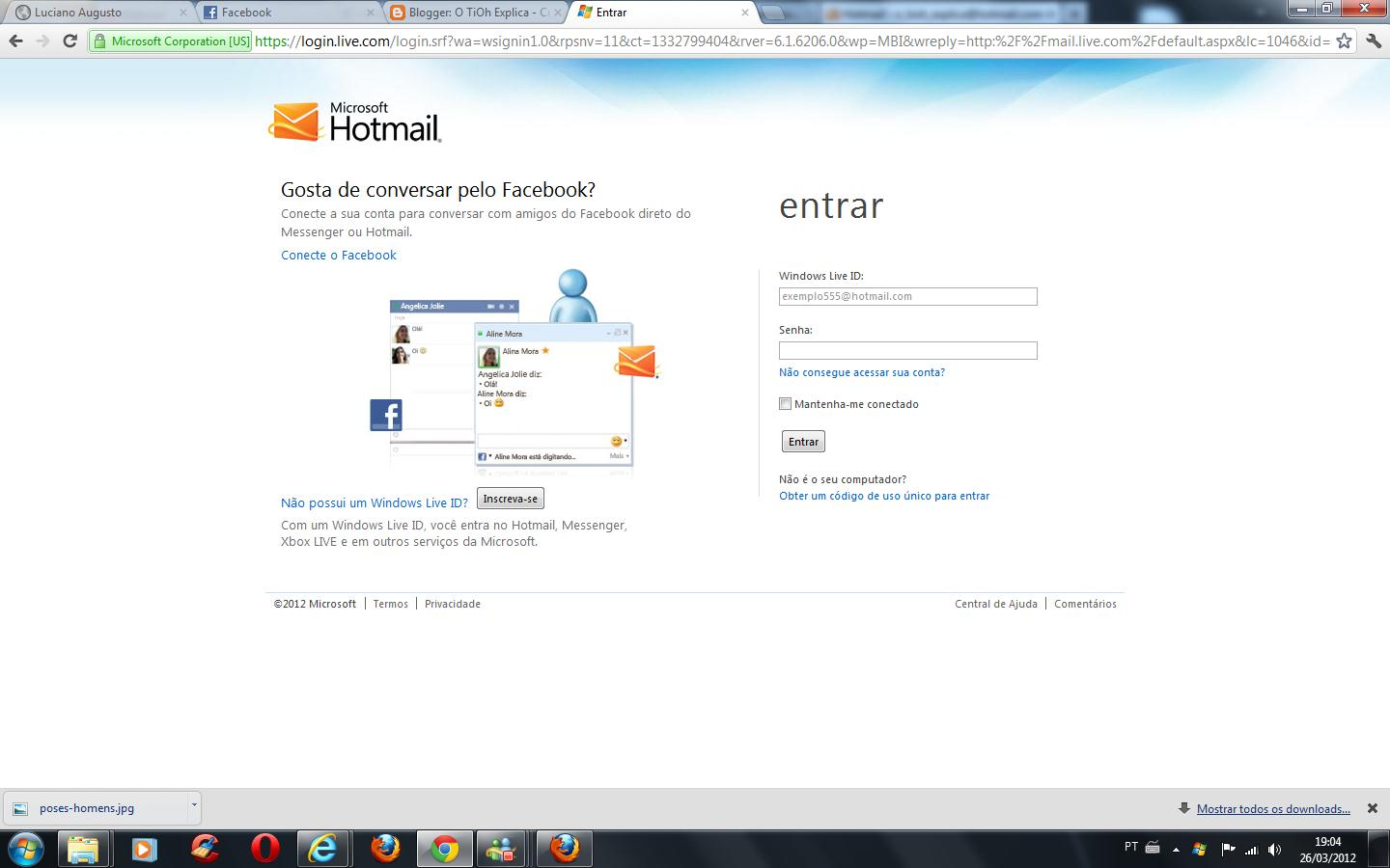 Messenger Hotmail Inicio O Tioh Explica Como Trocar A Senha Do Windows Live Messenger